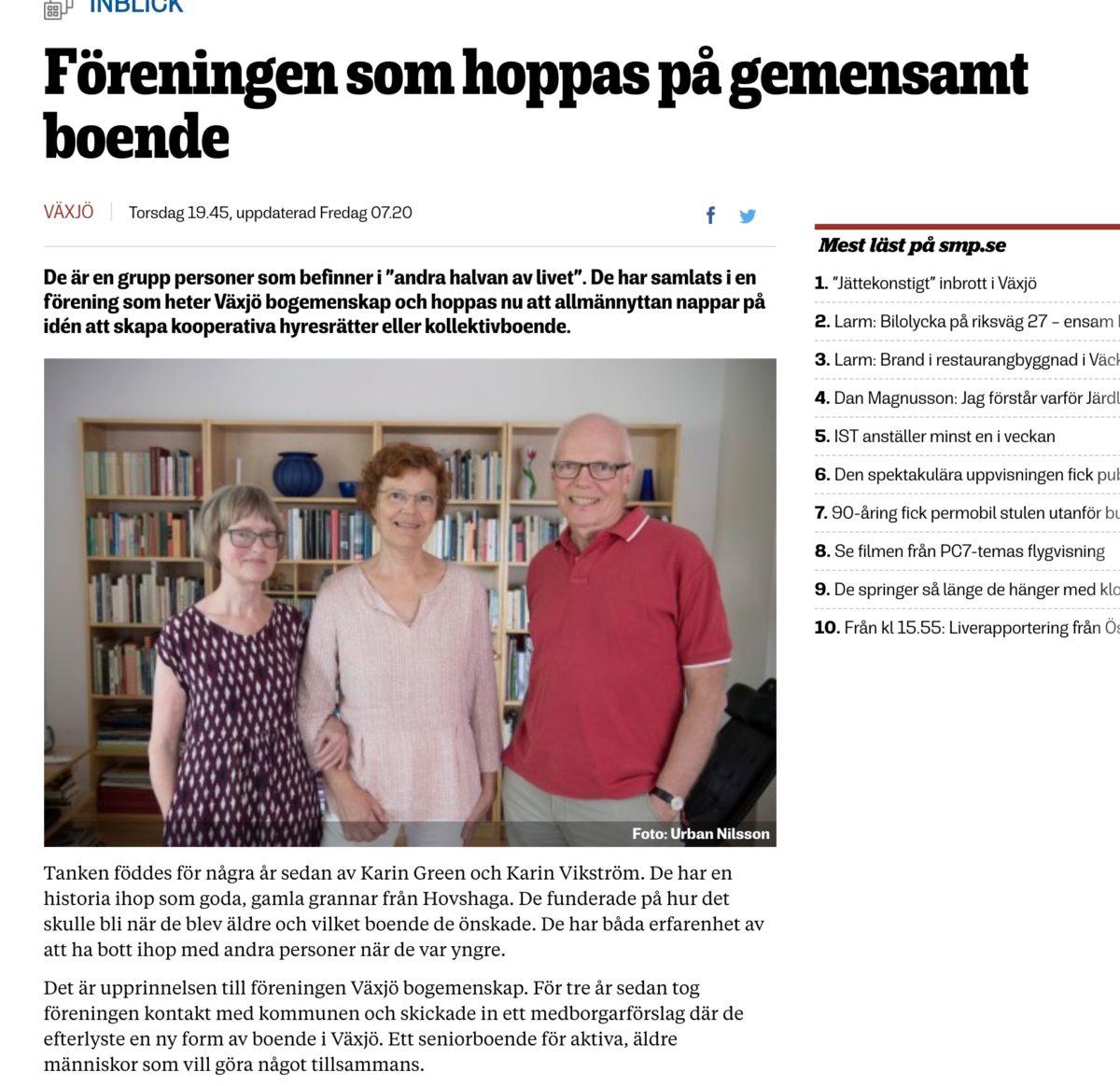 Föreningen som hoppas på ett gemensamt boende i Växjö