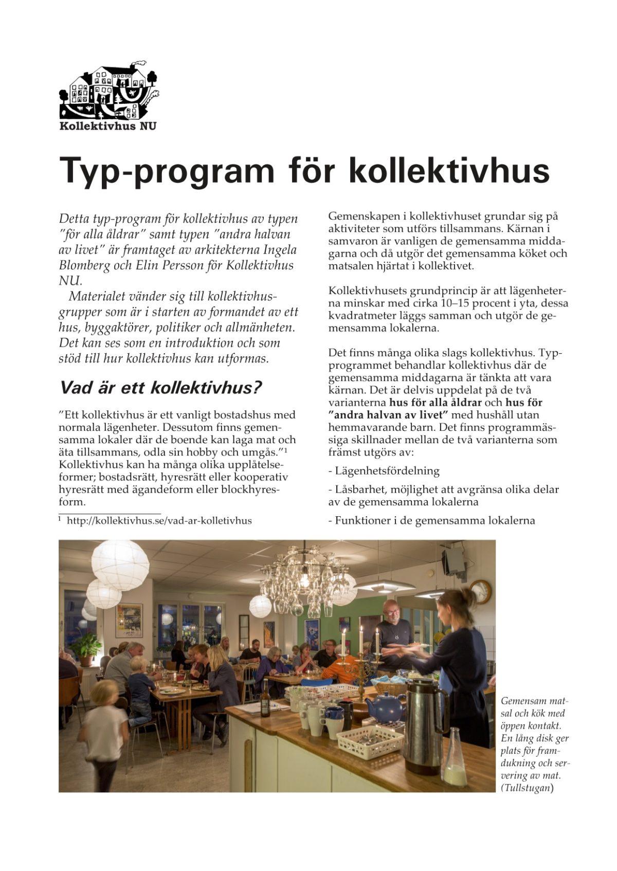 Typprogram för kollektivhus