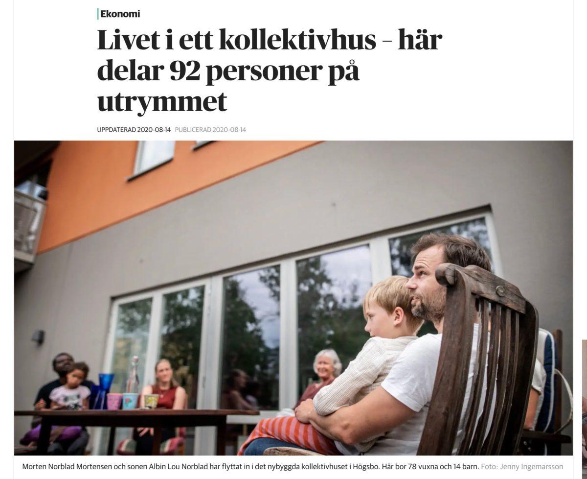 Under samma tak i Högsbo – reportage i DN