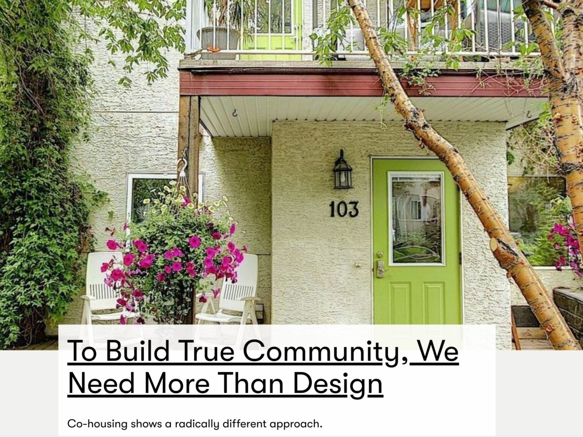 """To build true community, we need more than design"""