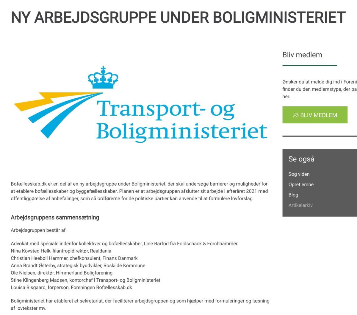 Statlig kommitté ska underlätta för bygg- och bogemenskaper – i Danmark