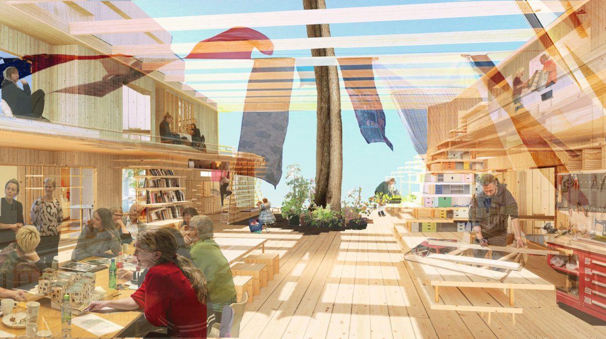 Nordiskt paviljongen på Biennalen i Venedig 2021 blir ett kollektivhus